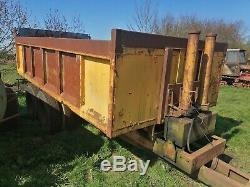 10 ton tipping trailer muck trailer grain trailer massey ferguson johndeere fend