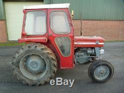 1977 Massey Ferguson 135 Tractor C/w Qd Cab. One Owner. 3617 Hours. £7500 + Vat