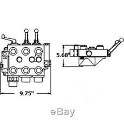 19833A92 New Massey Ferguson MF Tractor Hydraulic Valve & Manifold MF35 SBA311