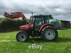 2007 Massey Ferguson 5460 loader tractor with Massey 940 loader (Euro 8)