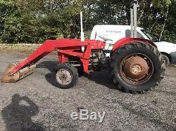 £2,995 + Vat Massey Ferguson 35 Tractor & Loader Small Holding Vintage Inc Vat