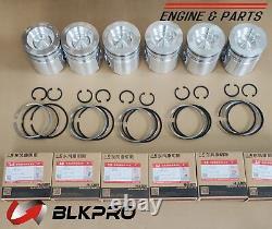 6 PISTON & Piston Rings Sets STD For Dodge Ram 6.7L Cummins 07-19 107mm 4955520
