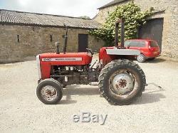 #A0070 Massey Ferguson 240 tractor MF 35 135 290 390. Scruffy for restoration