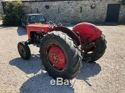 #A0081 1958 Massey Ferguson 35 petrol tractor MF Standard 23C engine. Delivery