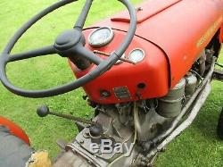 Classic Vintage 1959 Massey Ferguson 35 Diesel Vineyard Tractor. Barn Find