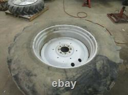 For, Massey Ferguson 6150 Pair 20.8 R38 Wheels & Tyres in Good Condition