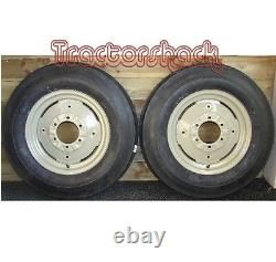 Front Wheels Tyres & Tubes x 2 to fit MF 35, Dexta and Various Tractors