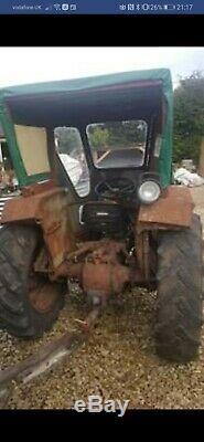 Grey Massey Ferguson Diesel Tractor With Lambourn Cab
