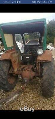Grey Massey Ferguson Diesel Tractor With Lambourn Cab