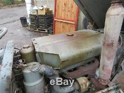 Grey massey ferguson diesel tractor
