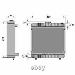 Kühler Wasserkühler für Massey Ferguson MF 133 135 140 145 148 152