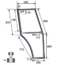 L/h Door Frame Fits Massey Ferguson 350 365 375 390 390 399 Tractors