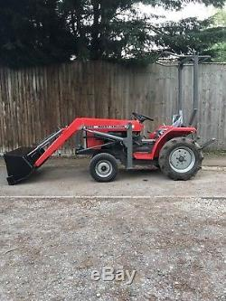 Massey Ferguson 1010 Compact Tractor loader stable farm