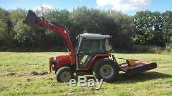 Massey Ferguson 1250 compact tractor with cab and loader 4wd 4x4 low hours