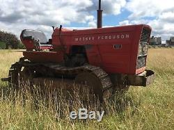 Massey Ferguson 134c Crawler Tractor Drott Vintage Vineyard Collectors Digger