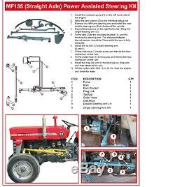 Massey Ferguson 135 148 240 Tractor Power Steering Kit Straight Axle