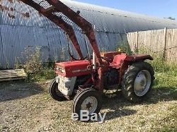 Massey Ferguson 135 Tractor c/w Loader Vintage, Equestrian Use Genuine Off Farm