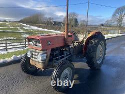 Massey Ferguson 135 tractor Swept Axle Perkins 3 Cylinder Unrestored Original