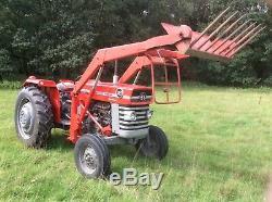 Massey Ferguson 165 Tractor. Multi power and pressure control. Loader