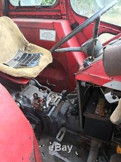 Massey Ferguson 165 Tractor, original working classic, barn find, on farm from new