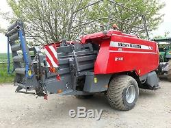 Massey Ferguson 2140 Baler. 2013. 69500 Bales. Very Nice Condition, Roller Chute