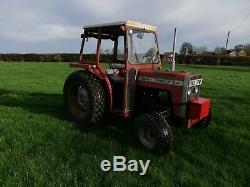 Massey Ferguson 240 tractor on turf tyres