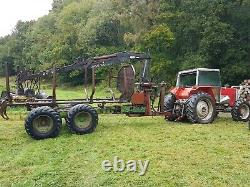 Massey Ferguson 2640 With 14 Tonne Forestry Timber Forwarding Trailer