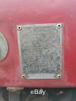 Massey Ferguson 35 3 Cylinder Diesel