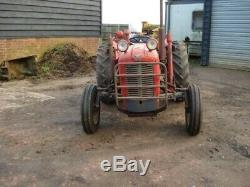 Massey Ferguson 35 3 Cylinder Diesel Tractor 1961 with attachments
