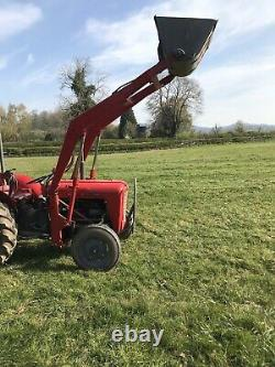Massey Ferguson 35 3 Cylinder Tractor With Loader And Bucket