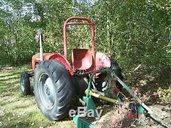 Massey Ferguson 35 Diesel 3 Cylinder Engine Tractor With Major 6 Feet Topper