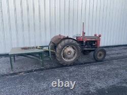 Massey Ferguson 35 Tractor and Log Splitter