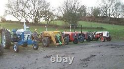 Massey Ferguson 35 industrial tractor Antique Tractor Front Loader MF35 FE35 23c