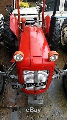 Massey Ferguson 35x vintage tractor road registered