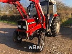 Massey Ferguson 360 tractor, power loader bucket and fork 60hp