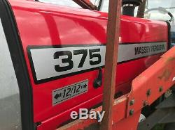 Massey Ferguson 375 tractor with Loader and Bucket