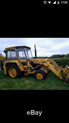 Massey Ferguson 50B Digger. JCB. Tractor. Farming. Agriculture. Ferguson