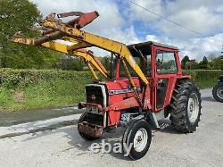 Massey Ferguson 565 And Loader Tractor