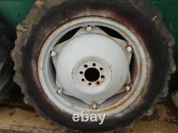 Massey Ferguson MF35,135/Ferguson FE35, TE20 8 Stud 28 Rear Tyres/Rims NVC049F