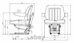 Massey Ferguson MF 300 Series Lowline Cab Tractor Seat 300-399 390 Fabric & Arms