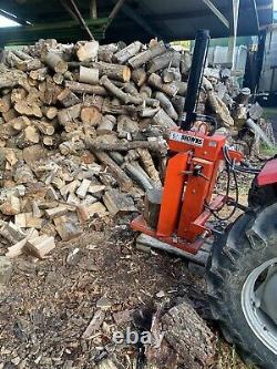Massey ferguson 135 tractor With Browns Log Splitter