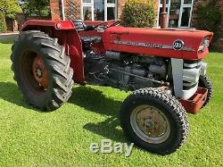 Massey ferguson 135 tractor with power steering 3000 genuine hours one owner fro