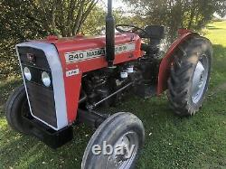Massey ferguson 240 agricultural tractor 45hp NUT & BOLT RESTORATION