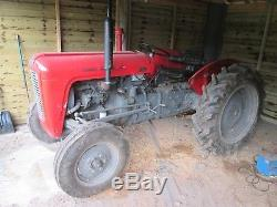 Massey ferguson 35 tractor 135 engine fitted