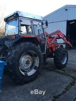 Massey ferguson 390 4wd tractor c/w 880S loader and 5' bucket