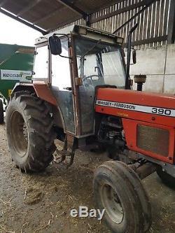 Massey ferguson 390 tractor 1989 f reg 2wd