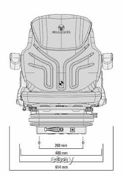 NEW GRAMMER MSG95 12v TRACTOR AIR SEAT FENDT CLAAS DEUTZ SAME MASSEY FERGUSON