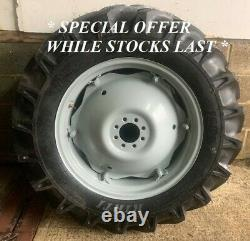 New 12.4-28 Rear Wheels and Tyres To Fit MF and Ford