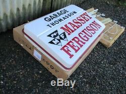 Original Massey Ferguson Tractor illuminated Dealer/Garage Sign. Never Fitted