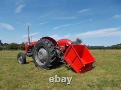 TIPPING TRANSPORT BOX TTB150 1.5 WIDE NEW massey ferguson tractor 3 point linkag
